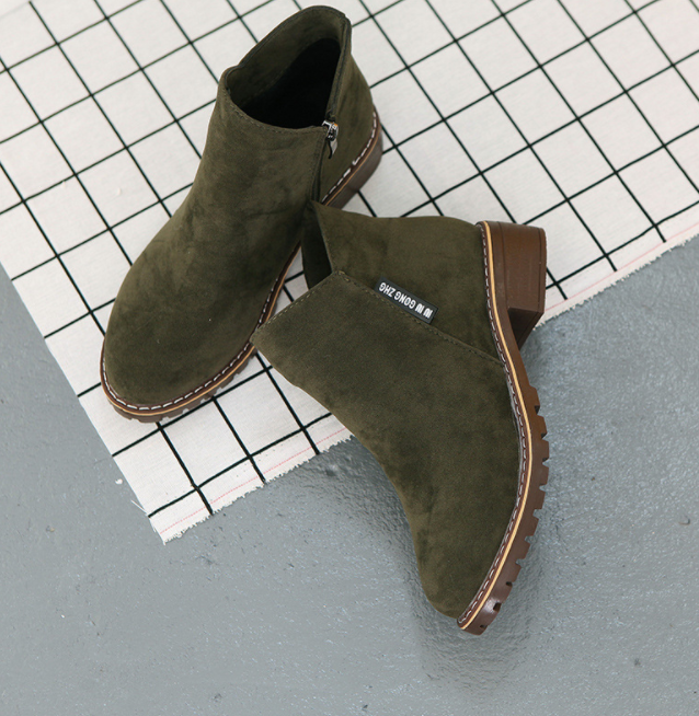 Huanqiu/Модные женские ботинки; сезон осень-зима; классические зимние ботильоны на молнии; зимняя замшевая женская обувь; ZLL139