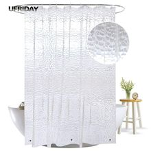 UFRIDAY 3D Water Cube Shower Curtain with Magnets Waterproof Mildew Resistant for The Bathroom Clear Plastic PEVA Bath Curtain deer water resistant shower curtain