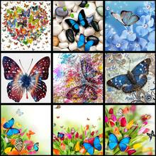 full Diamond Painting Colorful Butterfly Diy Diamond Embroidery Mosaic Handmade Kits Animal Pattern Home Decor