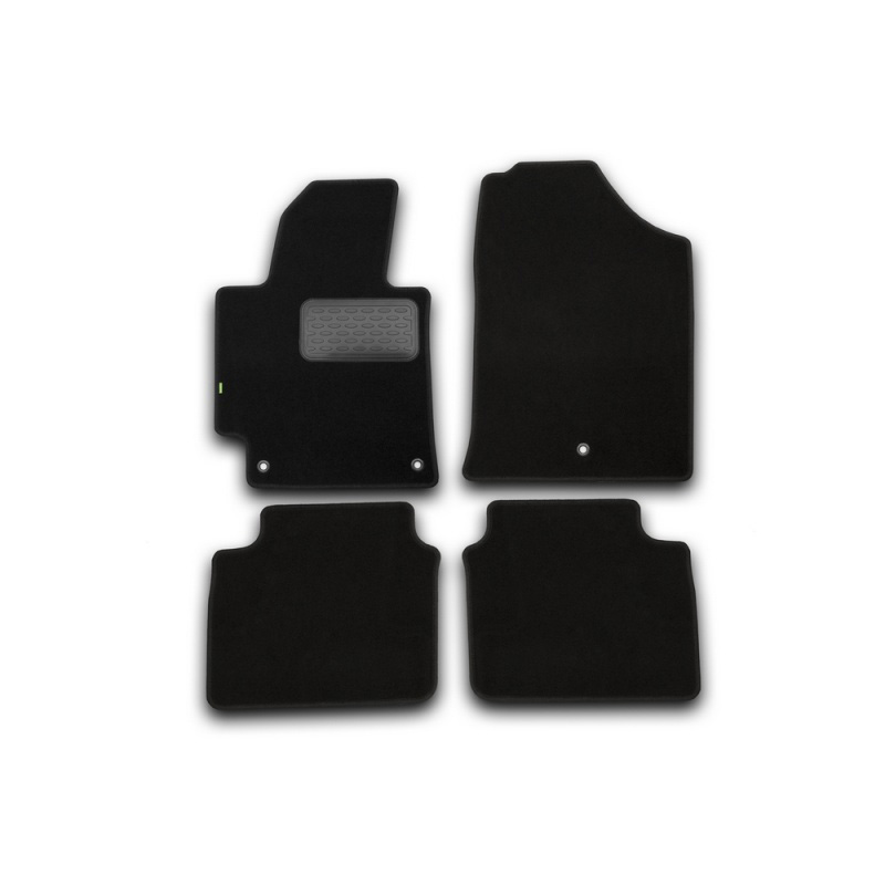 Mats in salon Klever Standard for HYUNDAI Elantra 2014-2016, сед... 4 PCs (textile) mats in salon klever premium for hyundai elantra 2014 2016 сед 5 pcs textile beige