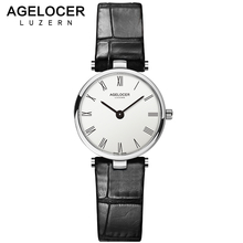 AGELOCER Famous Quartz Wrist Watches For Woman Design Fashion Clock Womens Watch Top Brand Luxury Ladies