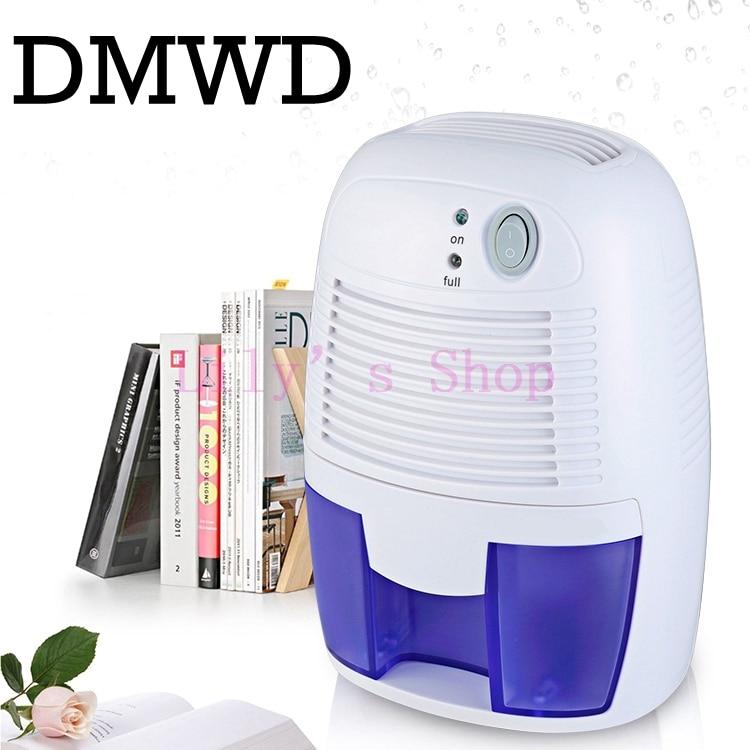 DMWD Portable MINI Dehumidifier Electric Quiet Air Dryer 110V 220V Air Dehumidifiers Moisture Absorber Home Bathroom EU US Plug