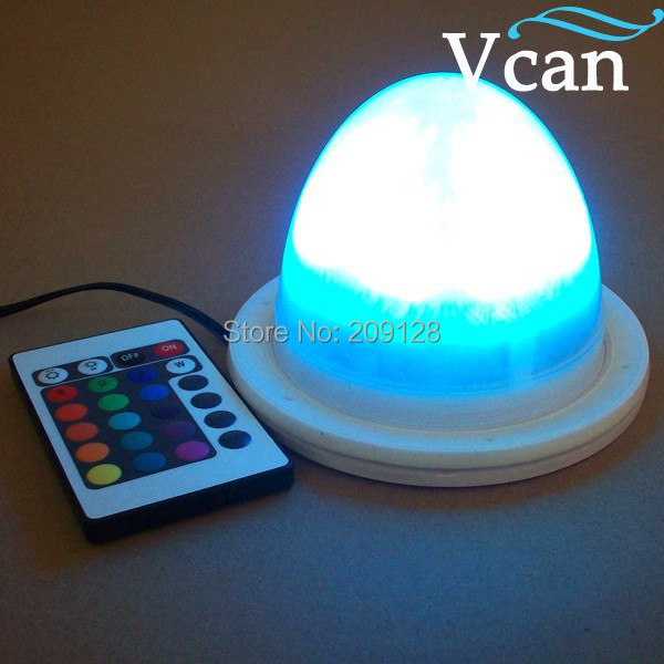 Best quality RGB remote control rechargeable led light base for table  VC-L117 kitosun patent design rechargeable battery operated rgb led centerpiece light base for wedding reception floral vase decoration