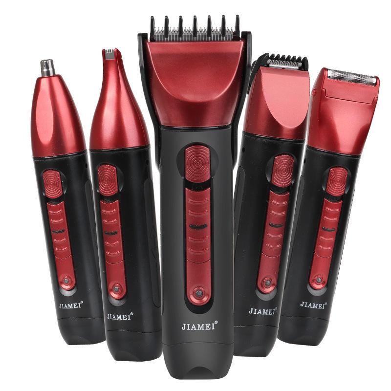5 en 1 électrique tondeuse à cheveux rasoir rasoir Rechargeable tondeuse à cheveux Machine de coupe de cheveux tondeuse sans fil pour les hommes utilisent