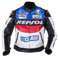 2017 New DUHAN Moto Racing Jackets motorbike GP REPSOL motorcycle Riding Leather Jacket Top Quality PU leather