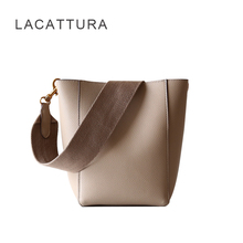 LACATTURA Bag for women 2018 luxury Paris brand design composite bags fashion celing shoulder bag lady casual bucket handbag lacattura 2017 new arrival it bag fashion brand design handbag women genuine leather cloe bag real cowskin shoulder bag