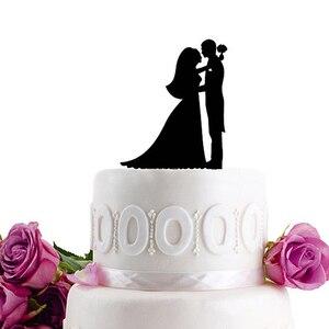 Image 3 - Acrílico bolo de casamento topper noiva noivo mr mrs acrílico bolo topper doce decoração de casamento mariage festa suprimentos adulto favores
