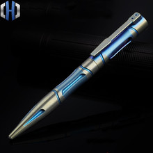Titanium Tactical Pen Color Gold Version Of The Defense Pen Tungsten Steel Head Self-defense Equipment Martial Arts Broken EDC