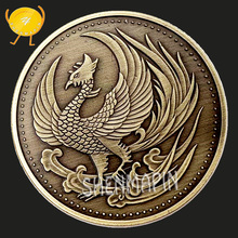 Japanese Traditional Culture Phoenix Commemorative Coin Japan Bird Scales Wishing Coins Collectibles Art Craft Gift