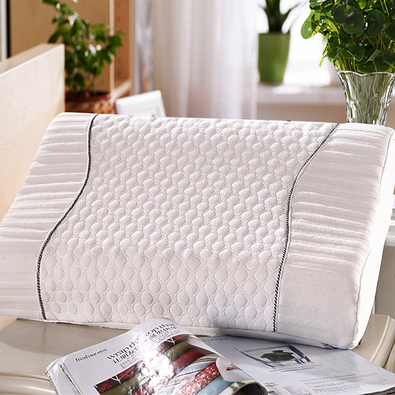 High Quality Health Care Neck PU Pillow Knitting Slow Rebound Memory Foam Pillow Orthopedic Latex Pillow Cervical 35x55cm