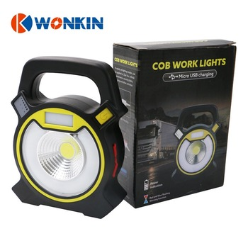 10W Rechargeable led portable lantern cob work light led floodlight Camping+hiking fishing flashlight desk light with USB charge