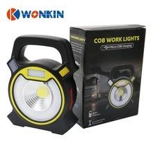 10W Rechargeable led portable lantern cob work light led floodlight Camping+hiking fishing flashlight desk light with USB charge