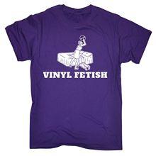 """Cool yet funny """"Vinyl Fetish"""" men's t-shirt"""