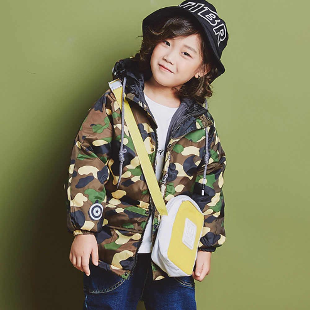 3de8cc05a91 2019 new fashion cool cap Boys Parka Jackets Winter Jacket Kids Windbeaker  Russian Hooded Camouflage 2 3 4 5 6 7 8T Years old
