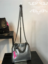 NEW SLIVER MINI 18 CM shaggy Deer PVC Luxury Cute metal chain crossbody shoulder handbag