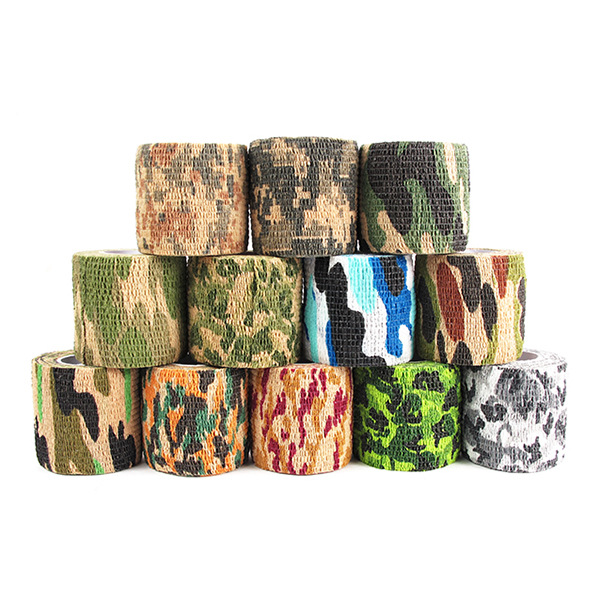 12 Style Creative Self Adhesive Extensible Non-woven Outdoor Camouflage Tape Camouflage Jungle Bicycle Stationery Tape