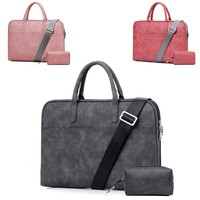 Fashion PU Leather Laptop Bags For Women 13 15 15.6 17.3 inch For Macbook Air 13 inch Waterproof Notebook Bag For Lenovo HP Asus