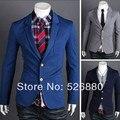 Однобортная пиджак европа ветер приталенный Fit мальчик социальный бизнес terno костюм куртка