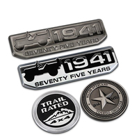 Liberty Willys Overland 1941 Trail Rated 3D Metal Refit Car Auto Badge Emblem Sticker For Jeep