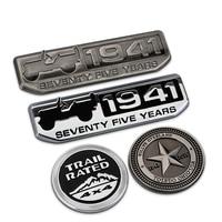 LUNASBORE Metal 3D Refit Coche Insignia Auto Etiqueta Engomada Del Emblema para Jeep Wrangler Grand Cherokee Renegade