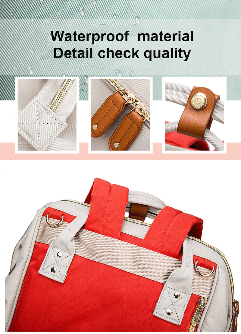 2019 New Baby Care Diaper Bag Travel Mummy Maternity Backpack For Baby Stroller Organizer Nappy Changing Bags Mother Bag  (16)