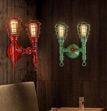 American Loft Style Industrial Water Pipe Lamp Vintage Wall Light For Home Bedside Edison Wall Sconce Indoor Lighting Arandela(China)