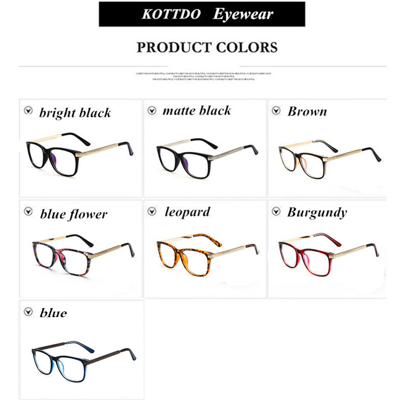 45994724343 Kottdo Glasses Women Retro Vintage Reading Eyeglasses Frame Men ...