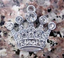 Lotti allingrosso 100 Pz FAI DA TE Strass Crown Charm Accessori 18*15mm