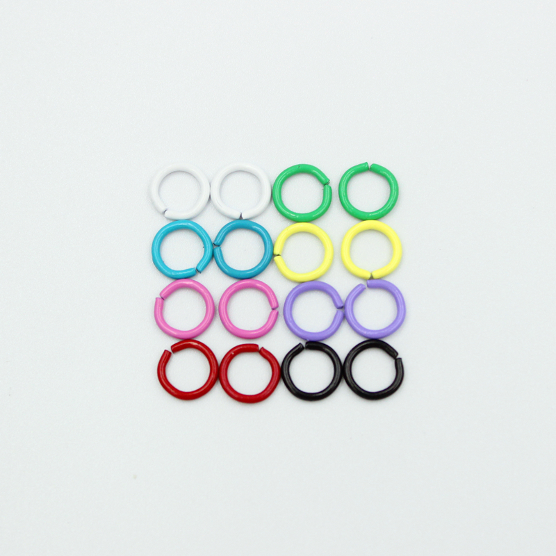 50pcs/lot 8mm Jump Black Colorful Rings Split Rings Connectors For Diy Jewelry Finding Making Accessories Wholesale Supplies