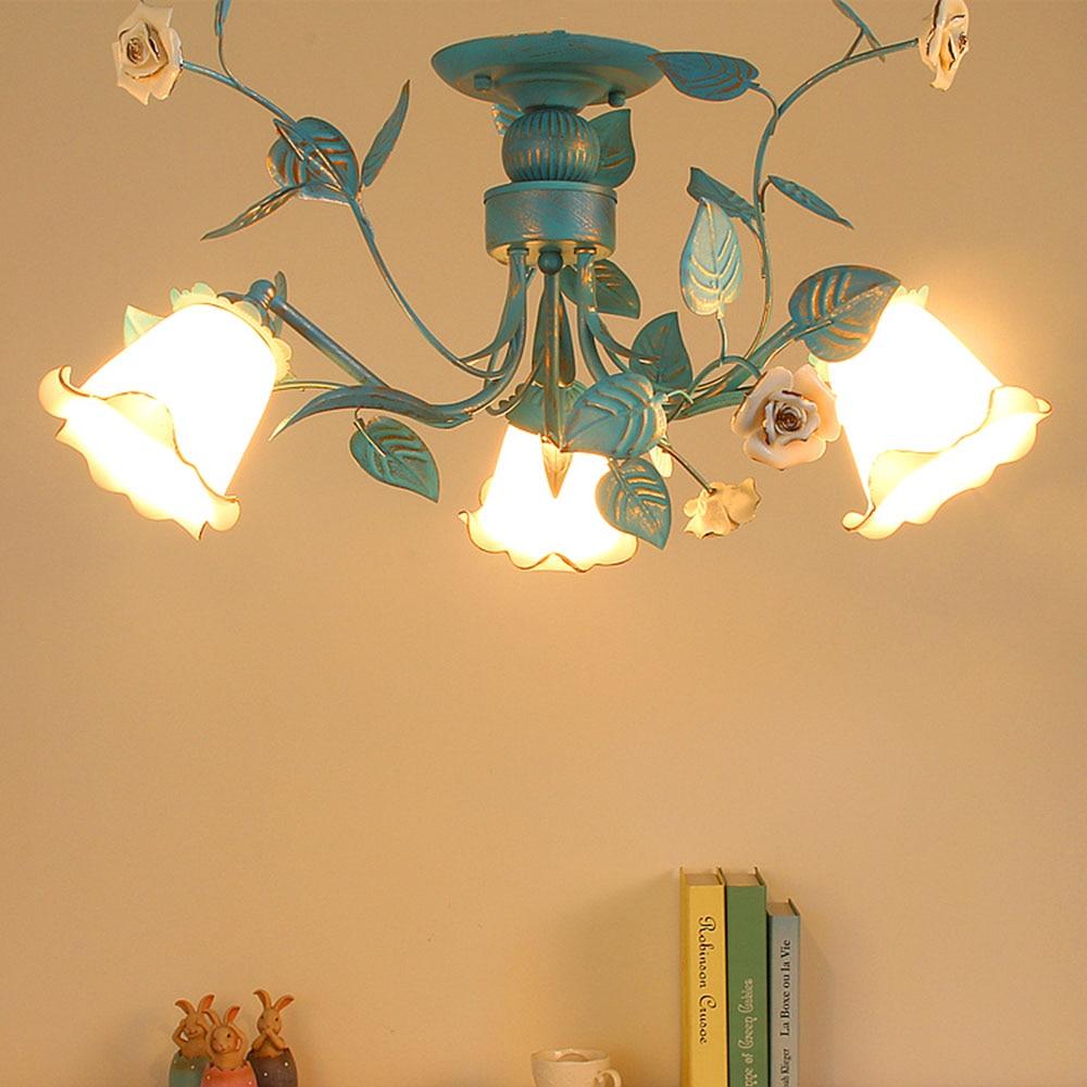 Ceiling Lighting Led Ceiling Lights Kitchen 110 220v Flush: Ceiling Lamp Blue Led Ceiling Lights Bedroom Living Room