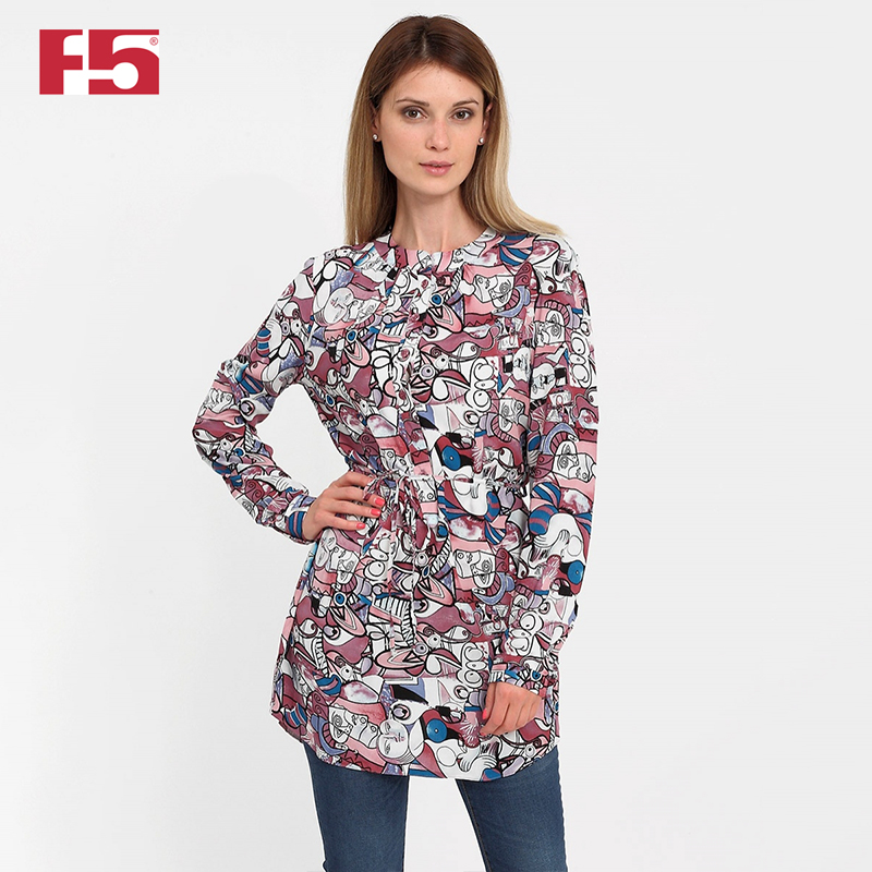 Women tunic F5 181011 rose print tunic dress