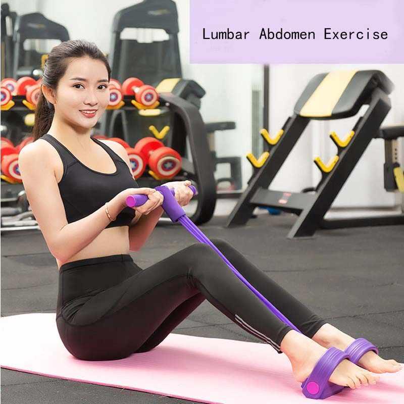 Yoga Fitness Resistance Band Strong Latex Tube Pedal Ejercitador-E