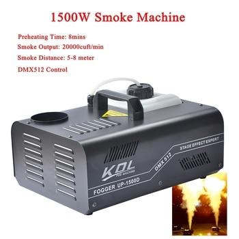 цена на Stage Effect Light Equipment 1500W DMX SMOKE MACHINE Stage Mist Effect 110V-240V DMX512 Control For Disco DJ KTV Party Spray Up