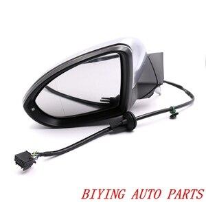 Image 4 - Für VW Golf 7 MK7 VII AUTO elektrisches klappspiegel GLÄSER mit Chrom aluminium satiniert Silber Abdeckung