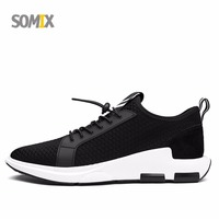 Somix New Brand Lightweight Running Shoes For Men Breathable Mesh Elastic Band Outdoor Sneakers Professional Men