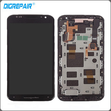 "5.2"" Black For Motorola Moto X2 Xt1092 Xt1095 Xt1097 LCD Display Touch Screen with Digitizer Bezel Frame Assembly Replacement"
