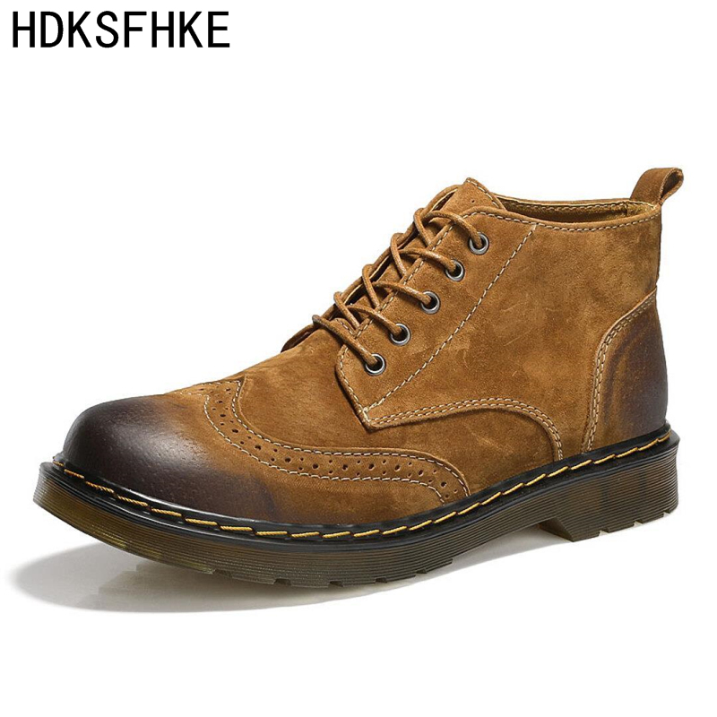 2018 boots for men boots army Men Ankle Boots Fashion Spring/Autumn Mens shoes casual boots