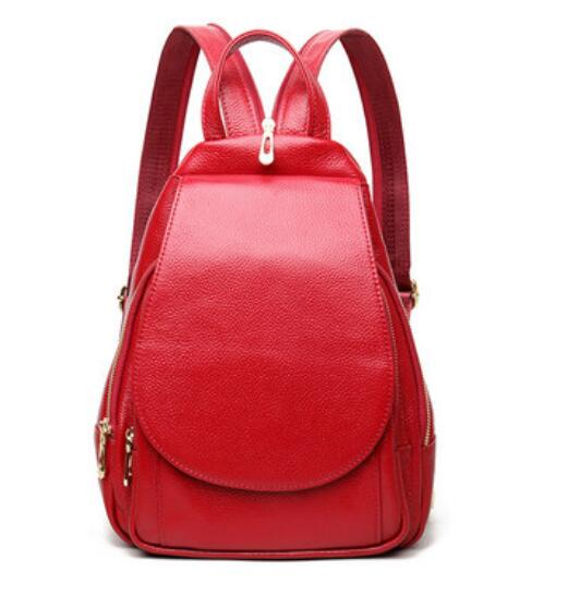 Qidell K510 Genuine Leather 2018 New Arrival Casual Simple Women Shoulder Bag/lady Backpack/ Female Backpack new arrival women genuine leather backpack young lady real leather backpack luxury female school bags with simple design e143