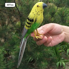 small cute real life bird model foam&feather yellow gift about 20cm xf0116