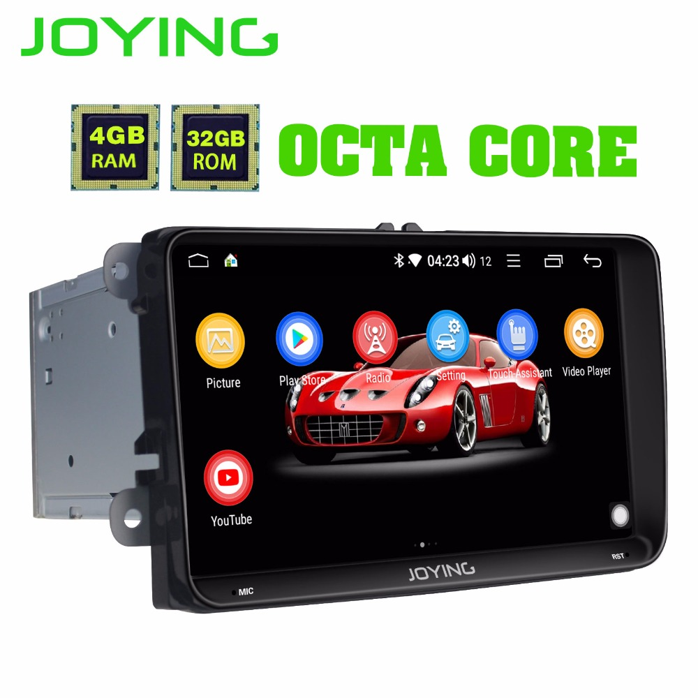 9Intel 4GB+32GB Android 8.1 Car Radio Stereo Head Unit For Volkswagen VW Skoda POLO GOLF PASSAT GPS Multimedia Player Add DSP