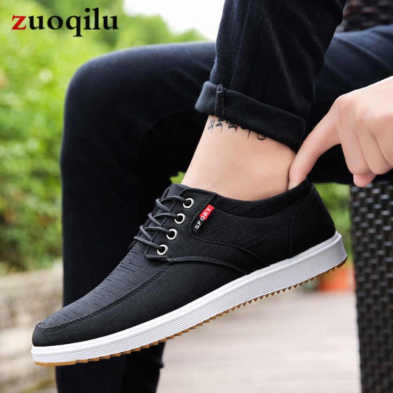 17523919a144 Men Casual Shoes 2019 Canvas Shoes Men Breathable Casual Canvas Men Shoes  Walking Men Shoes Chaussure