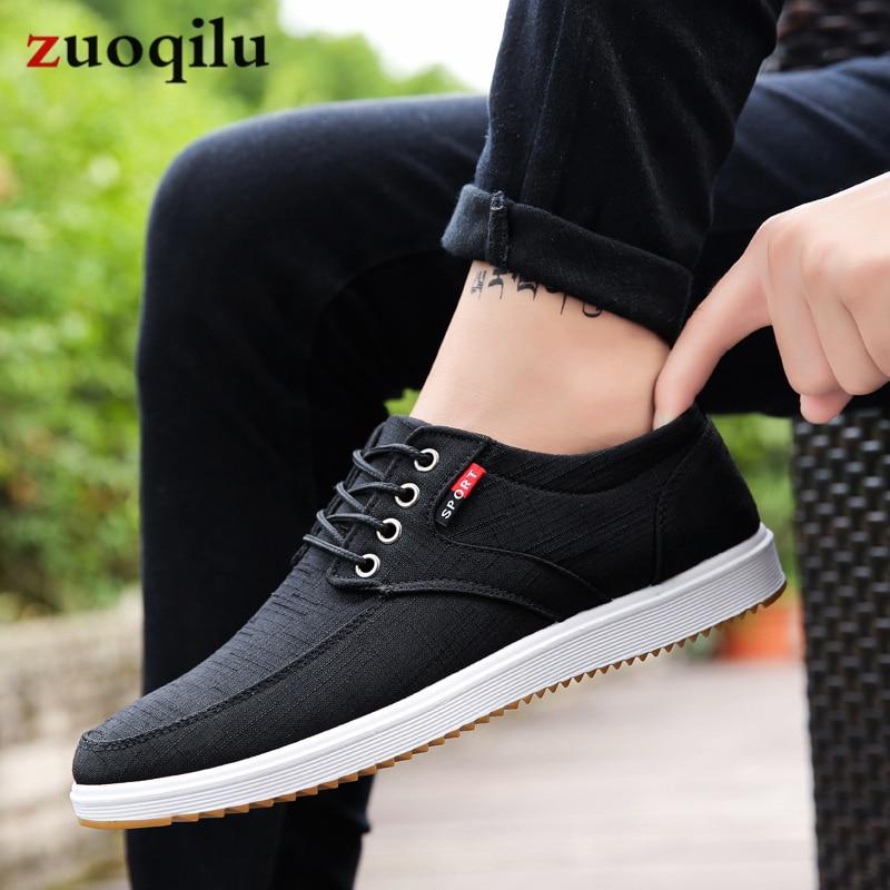 Men Casual Shoes 2019 Summer Canvas Shoes Men Breathable Casual Canvas Men Shoes Walking Men Shoes Chaussure Homme Factory sales