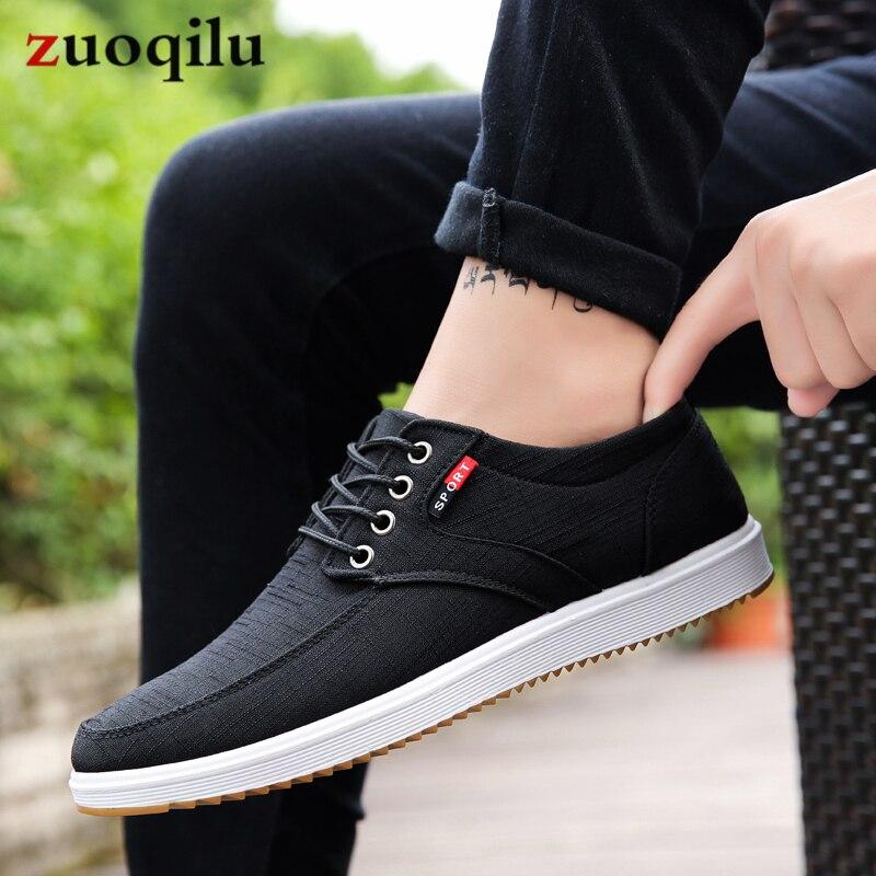 Hommes chaussures décontractées 2019 été toile chaussures hommes respirant décontracté toile hommes chaussures marche hommes chaussures Chaussure Homme ventes d'usine