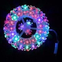 Pflaumenblüte Reifen Form LED-Licht Festival Bankett Party Beleuchtung Hausgarten Lampe Hochzeit Lichterkette Blume Led-lampe