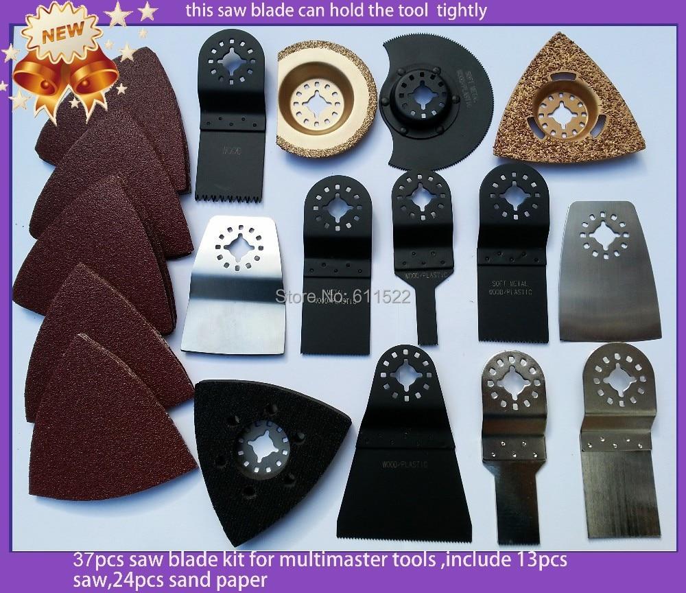 Kit lama per sega 37 pezzi per strumento multimaster solido qualità di esportazione durevole per la decorazione domestica e la lavorazione del legno una sega diamantata da 93 mm