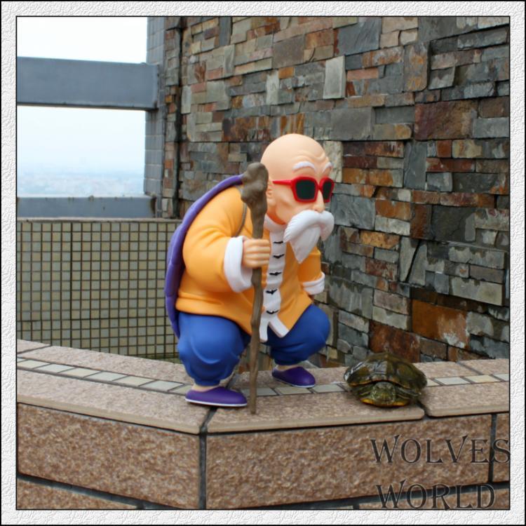 2st / set Högkvalitativ Dragon Ball Action Figur 25cm Kame Sennin 23cm Childhood Son Goku Modell