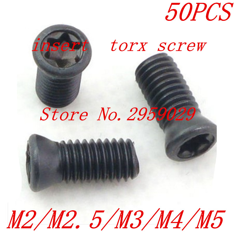 50pcs M2/M2.5/M3/M4/M5 CNC Insert Torx Screw for Replaces Carbide Inserts CNC Lathe Tool терминал xlr neutrik nc5md lx