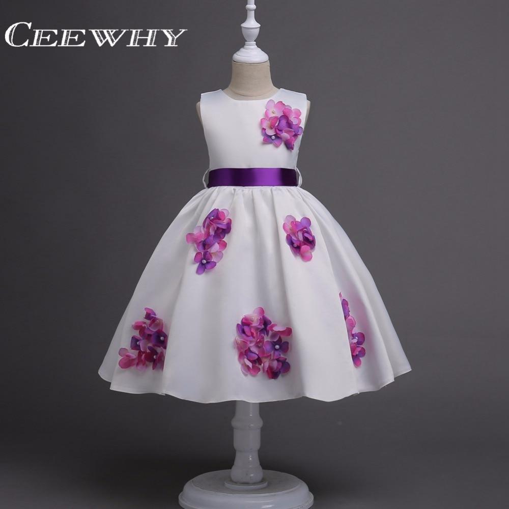 CEEWHY Appliques   Flower     Girl     Dresses   First Communion   Dresses   For   Girls   Vestidos de Primera Comunion Perform Stage   Dresses