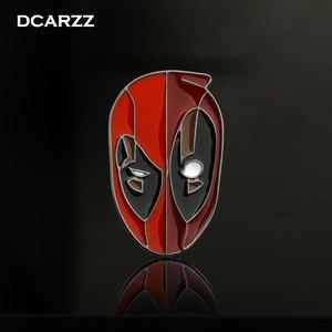 2018 nowy Deadpool maska emalia Pin broszka dla plecak/torba/dżinsy ubrania odznaka film biżuteria akcesoria hurtownie