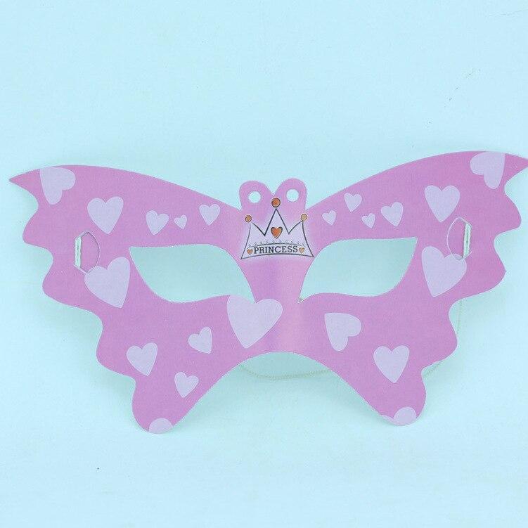 pink crown princess pattern mask party supplies mask tc061 6 on